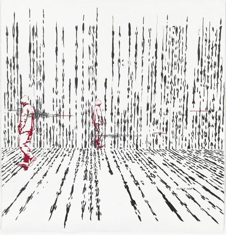 Brigitte Waldach, 'Matrix', 2018, Drawing, Collage or other Work on Paper, GGraphit, gouache on handmade paper, Galleri Bo Bjerggaard