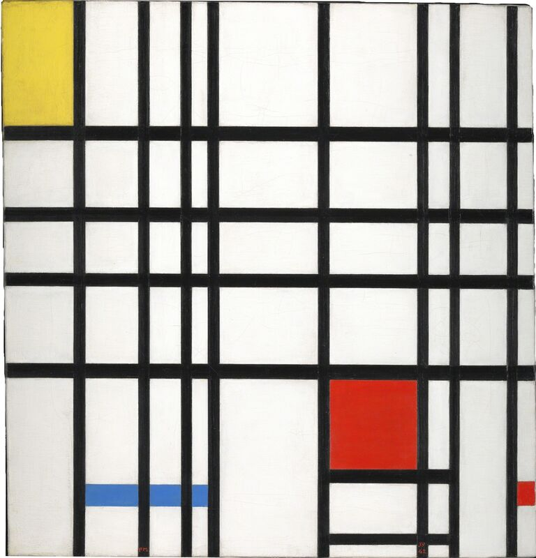 Piet Mondrian, 'Composition with Yellow, Blue and Red', 1937-1942, Painting, Oil paint on canvas, Whitechapel Gallery