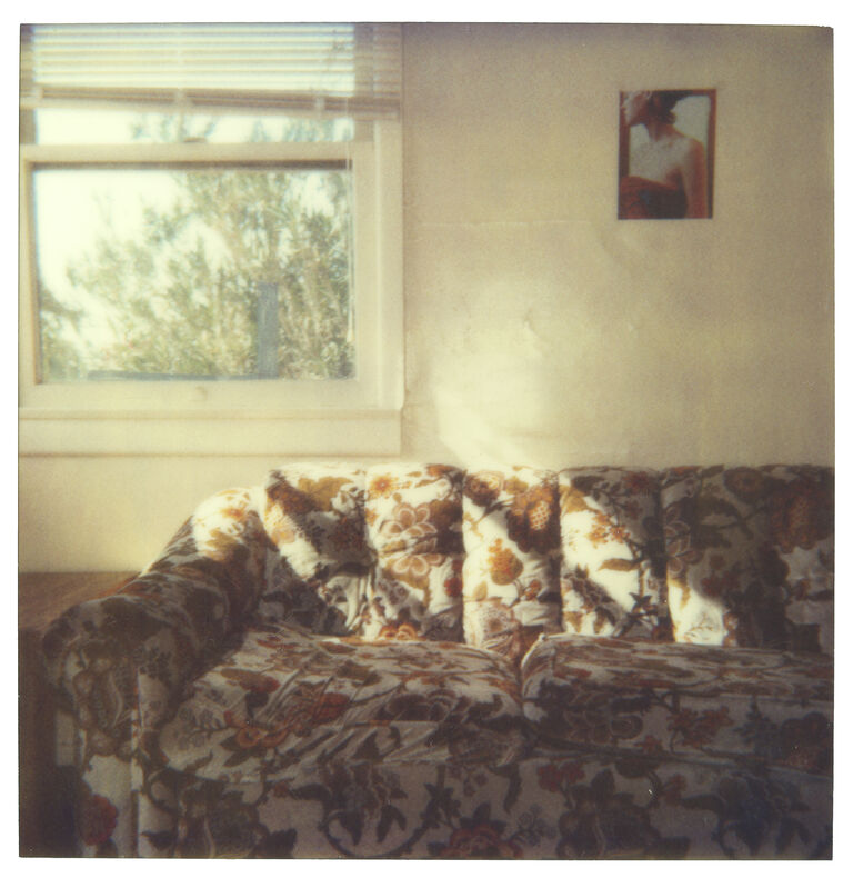 Stefanie Schneider, 'Orange Flowered Couch (29 Palms, CA) ', 1999, Photography, Digital C-Print, based on a Polaroid, not mounted., Instantdreams