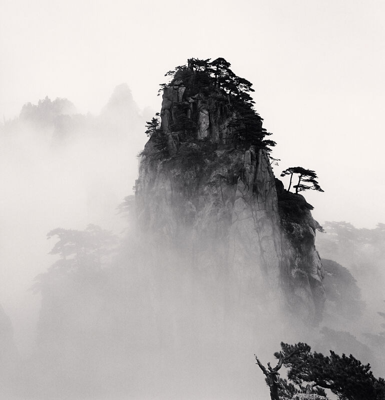 Michael Kenna, 'Huangshan Mountains, Study 11, Anhui, China', 2008, Photography, Sepia toned silver gelatin print, Ira Stehmann Fine Art Photography