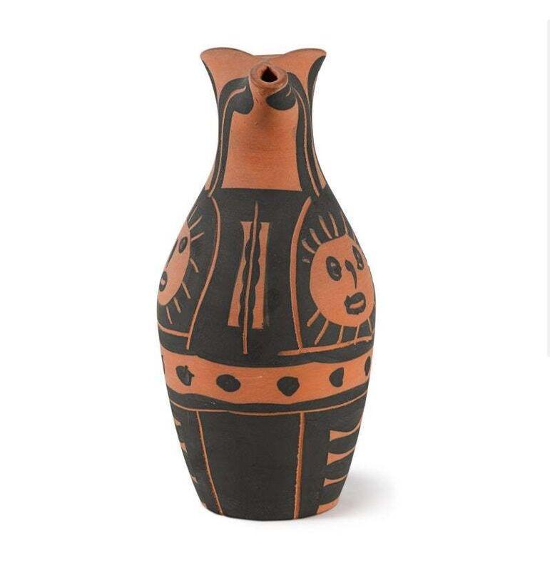 Pablo Picasso, 'Madoura Ceramic Pitcher - Yan Soleil, Ramié 516', 1960-1969, Design/Decorative Art, Ceramic,Terracotta, Hirth Fine Art