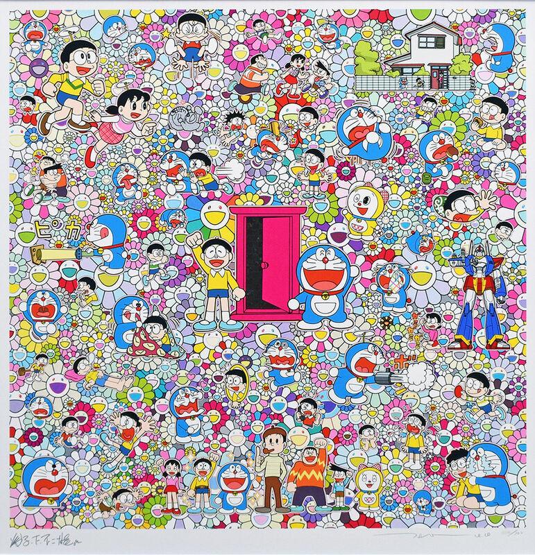 Takashi Murakami, 'Doors everywhere and a very good day sketch', 2020, Print, Silkscreen, Gallery Suiha