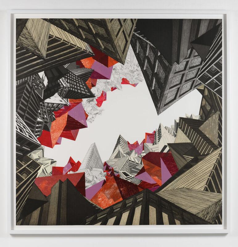 Nicola López, 'Earth', 2008, Print, Etching, woodcut and collage, Leslie Sacks Gallery