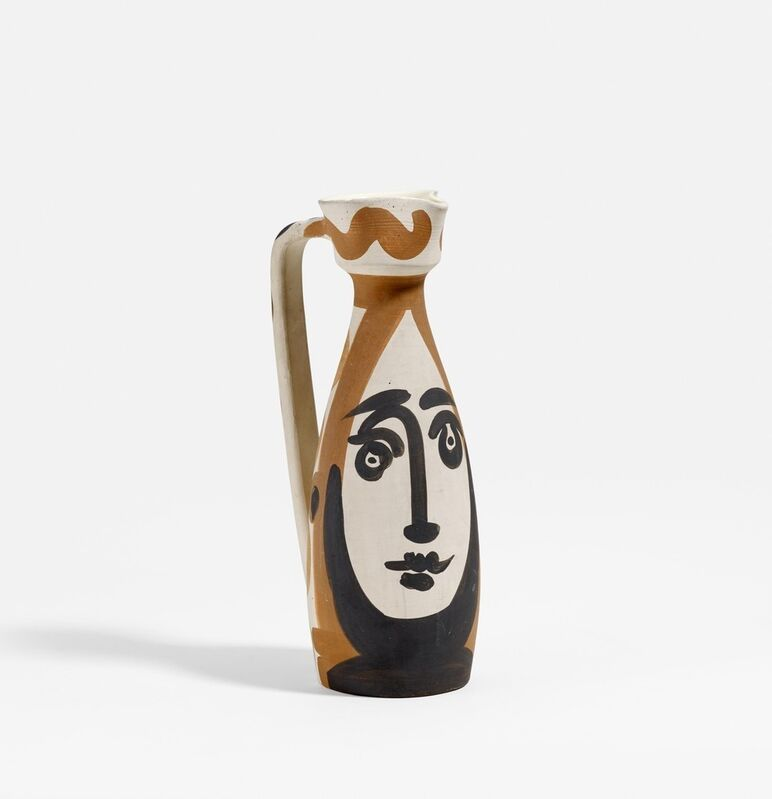 Pablo Picasso, 'Face', 1955, Sculpture, White earthenware clay, partly black and brown patinated, interior glazed, BAILLY GALLERY