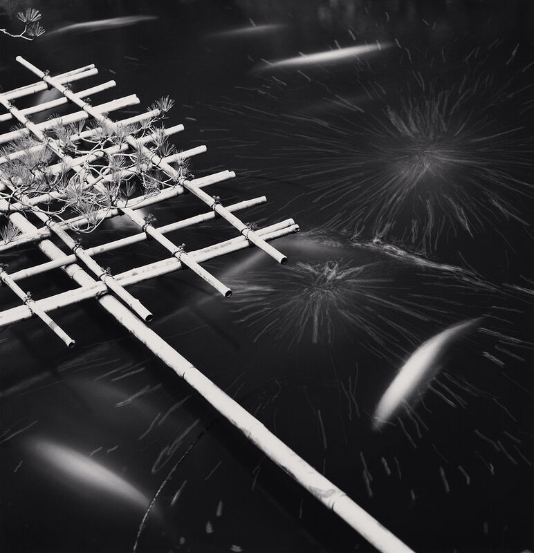Michael Kenna, 'Temple Pond, Sanboh-in, Koyasan', 2006, Photography, Silver Gelatin Print, Frames in Grey with Plexiglass, Bau-Xi Gallery