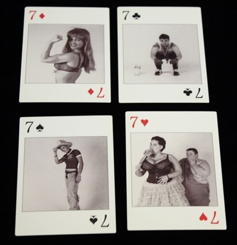 Catherine Opie, 'Dyke Deck', ca. 1995, Ephemera or Merchandise, Screenprinted photographs on a deck of playing cards in box, Alpha 137 Gallery