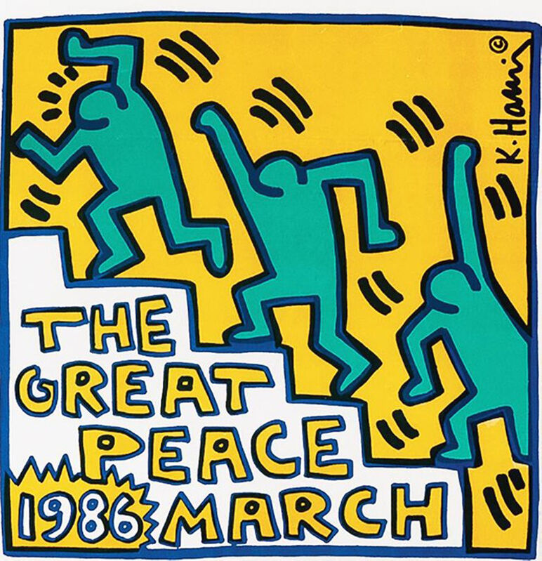 Keith Haring, 'Keith Haring Great Peace March ', 1986, Posters, Offset lithograph in colors on wove paper, Lot 180