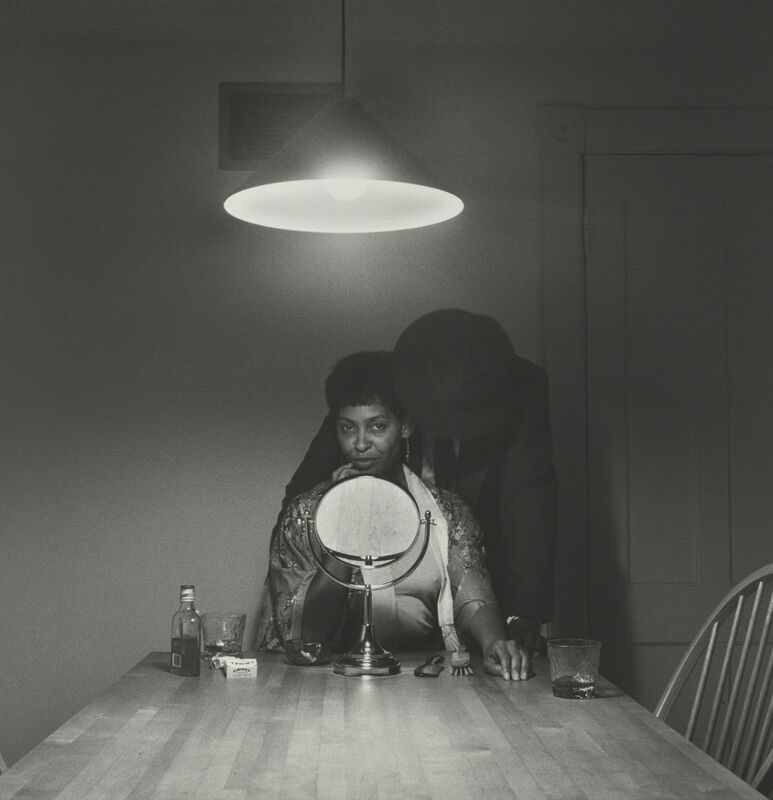 Carrie Mae Weems, 'Untitled (Man and mirror) (from Kitchen Table Series)', 1990, Photography, Gelatin silver print, Guggenheim Museum