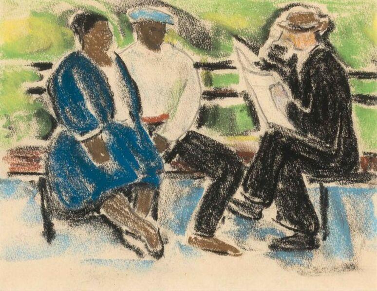 Ethel V. Ashton, 'Sunday Paper'