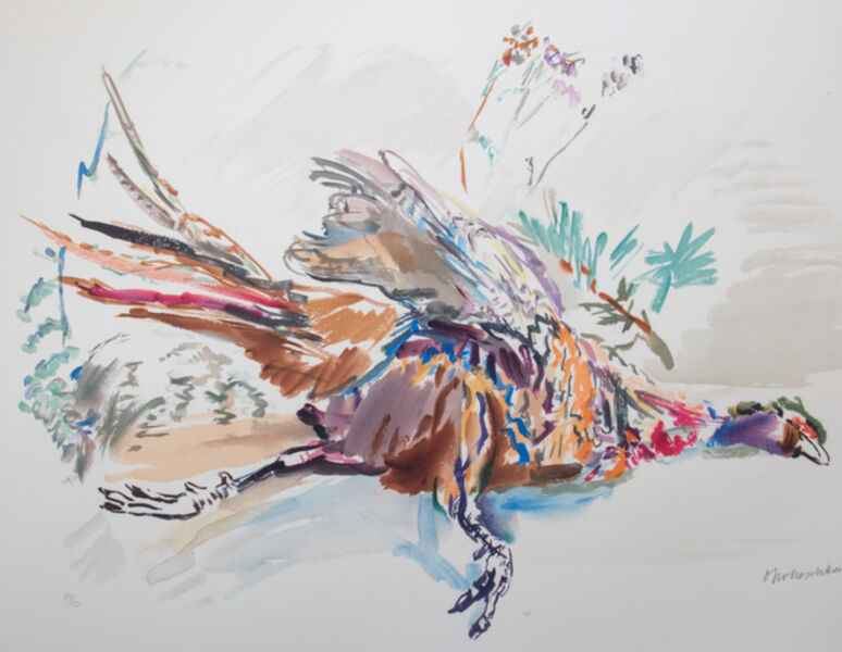 Oskar Kokoschka, 'Pheasant', 1972