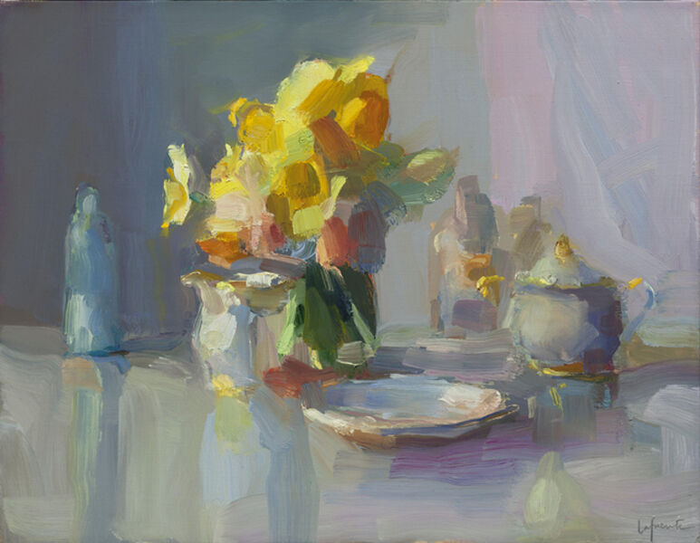 Christine Lafuente, 'Daffodils and Sugar Bowl', 2018