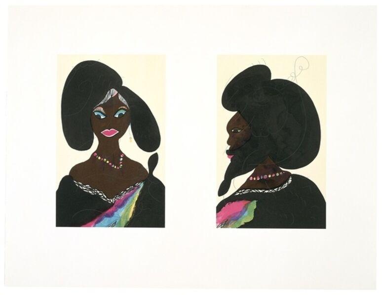 Chris Ofili, 'Afro Harlem Muses'