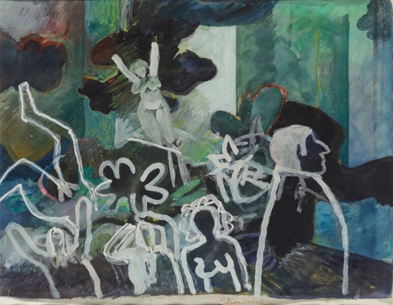 James Strombotne, 'Figures in white', 1970