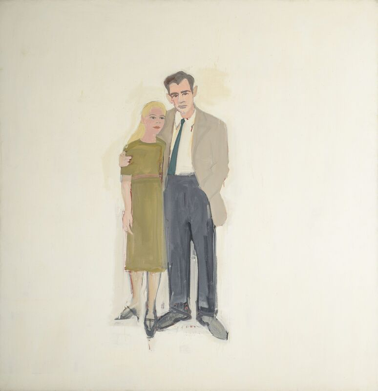 Alex Katz, 'Irving and Lucy', 1958, Painting, Oil on canvas, Colby College Museum of Art
