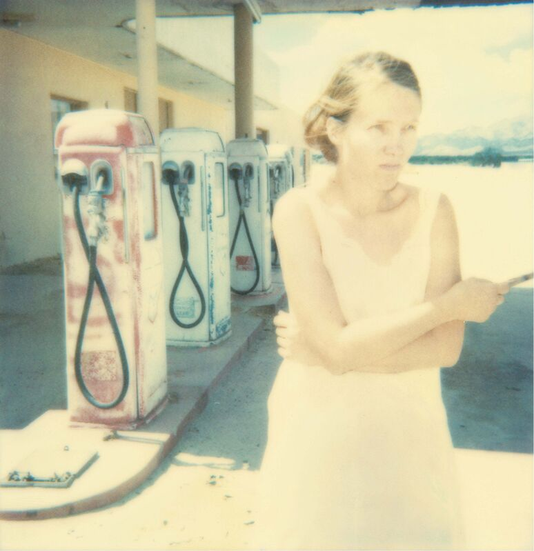Stefanie Schneider, 'Gasstation (Stranger than Paradise) ', 2000, Photography, 3 Analog C-Prints based on 3 Polaroids, hand-printed by the artist on Fuji Crystal Archive Paper. Mounted on Aluminum with matte UV-Protection., Instantdreams