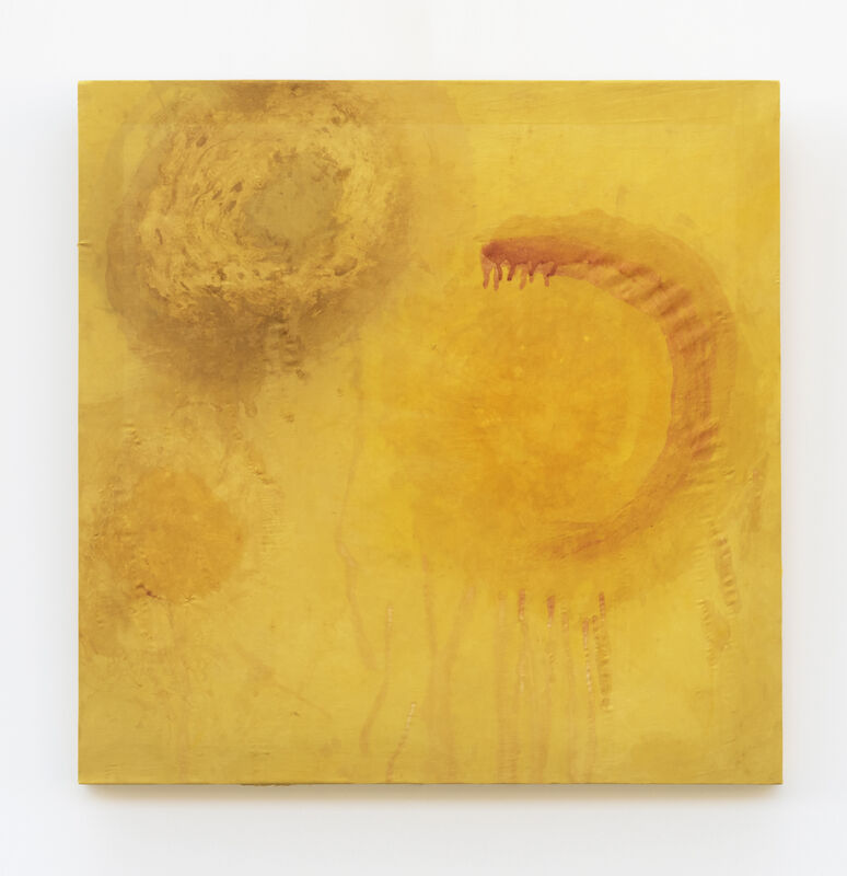 Amanda Millet-Sorsa, '167 Simmering Heights', 2020, Painting, Marigold, onion skins, weld, turmeric on silk fabric, SHIM Art Network