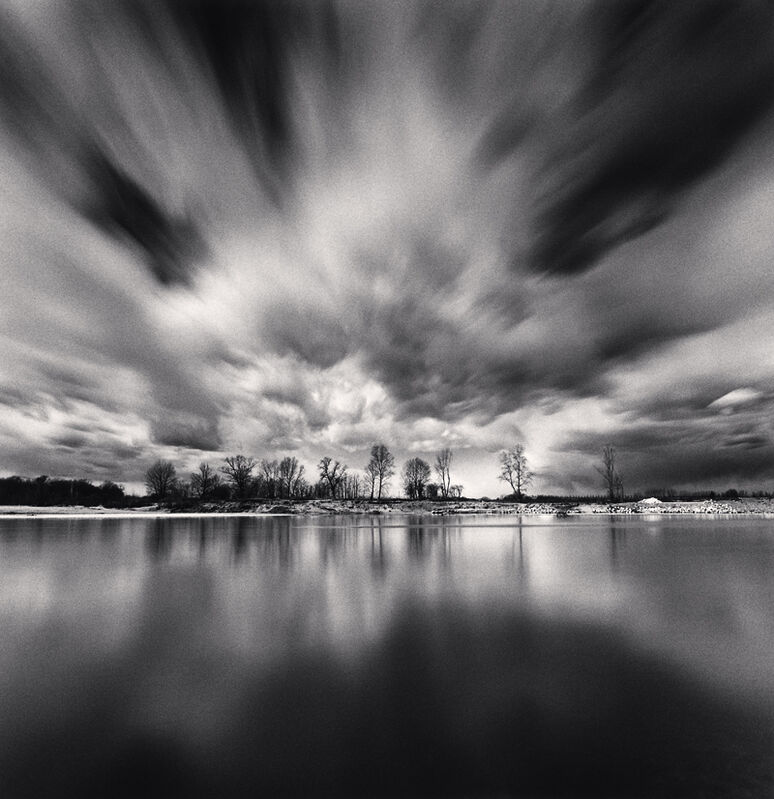 Michael Kenna, 'Dramatic Clouds, Sannazzaro dè Burgondi, Pavia, Italy', 2019, Photography, Toned silver print, Robert Mann Gallery
