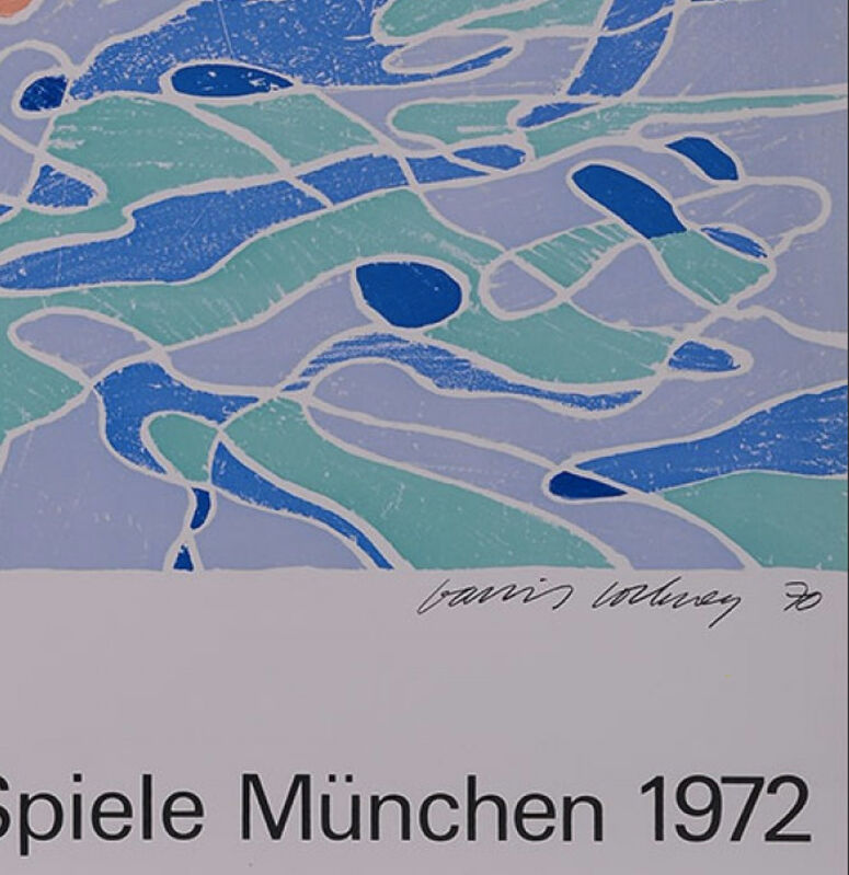 David Hockney, 'The Diver (Olympische Spiele München 1972)', 1972, Ephemera or Merchandise, Original lithograph poster on poster paper, NCAG
