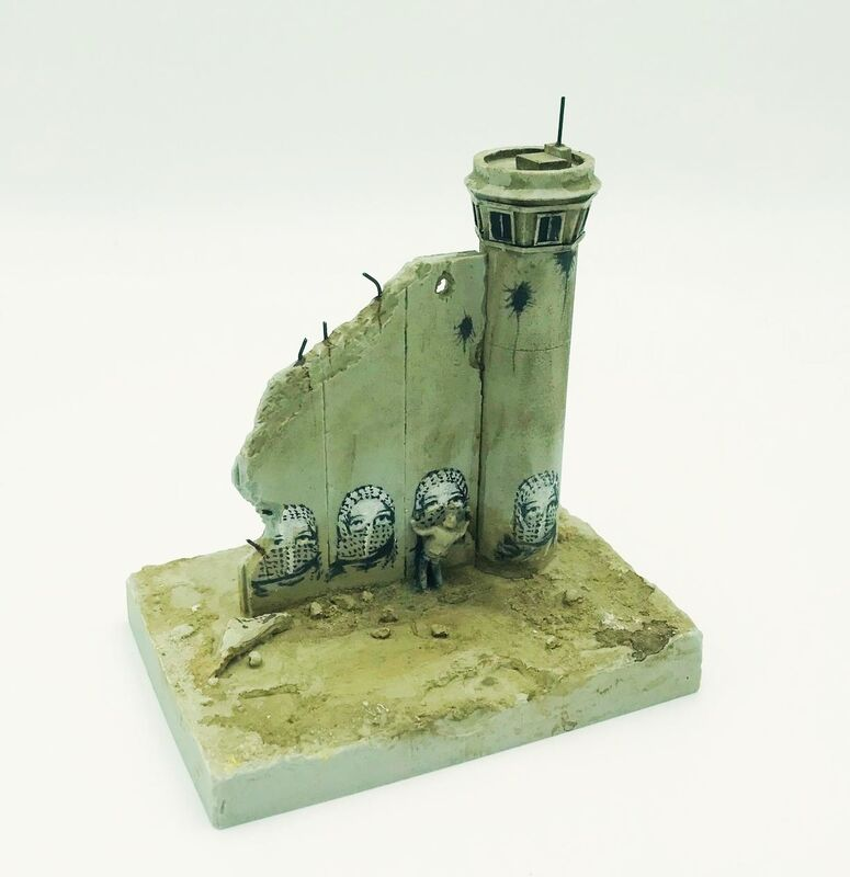 Banksy, 'Walled Off Hotel - Wall Sculpture (Graffiti)', 2018, Ephemera or Merchandise, Miniture concrete souvenir sculpture, hand painted by local artists, Lougher Contemporary