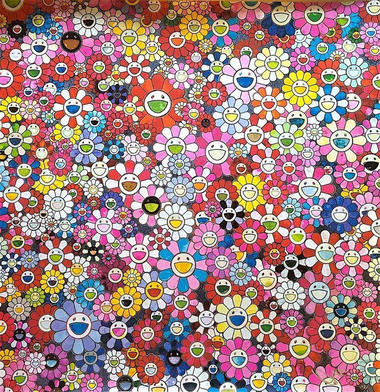 Takashi Murakami, 'Shangri-La Pink', 2016, Print, Offset print with silver, Lougher Contemporary