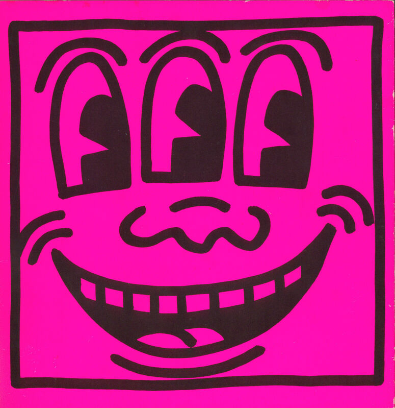 Keith Haring, 'Keith Haring cover art (Keith Haring Three Eyed face) ', 1982, Ephemera or Merchandise, Lithographic book cover, Lot 180
