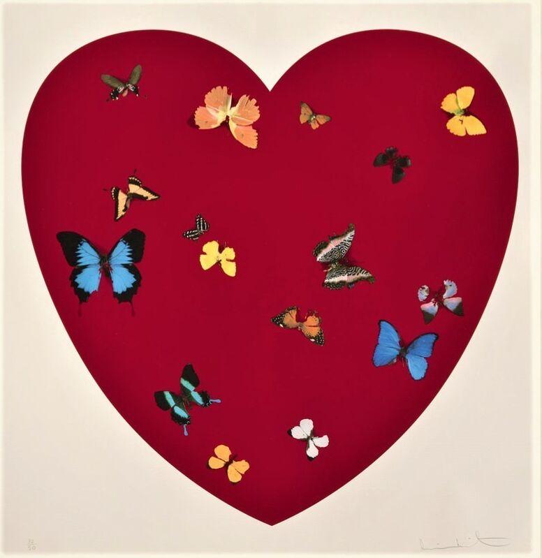 Damien Hirst, 'Big Love (Signed)', 2010, Print, Silkscreen print with glazes on Somerset Satin paper, Reuben Colley Fine Art