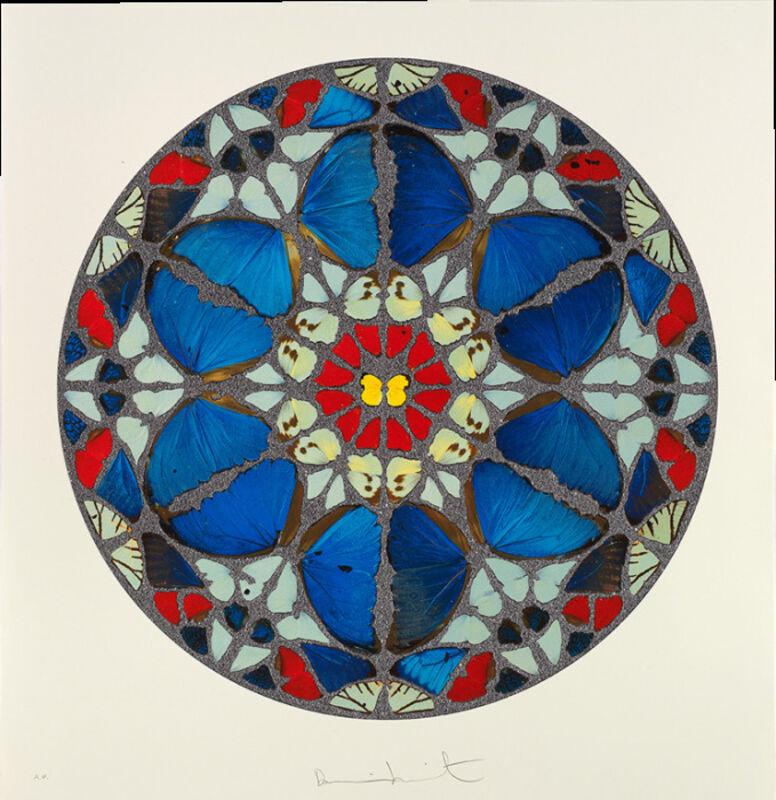 Damien Hirst, 'Psalm Print: Verba mea auribus (diamond dust)', 2009, Print, Silkscreen print with diamond dust, Rita Krauss Fine Art FLA.