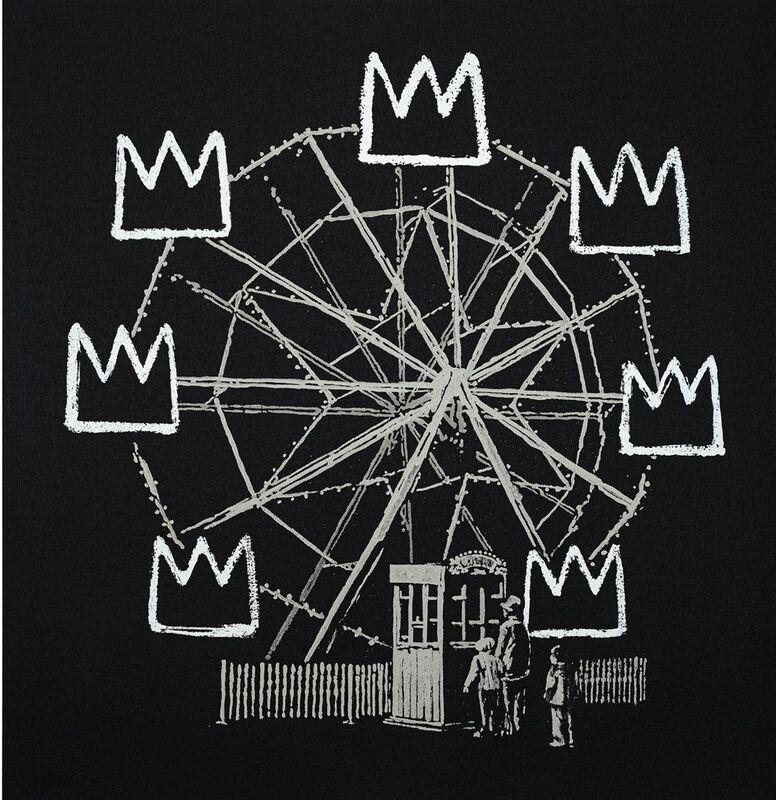 Banksy, 'Banksquiat (Black)', 2019, Print, Screenprint in colours, Tate Ward Auctions