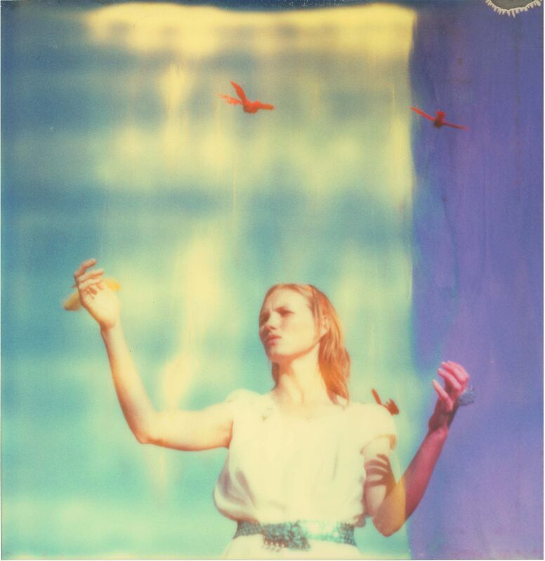 Stefanie Schneider, 'Haley and the Birds (29 Palms, CA)', 2013, Photography, Digital C-Print based on a Polaroid, not mounted., Instantdreams