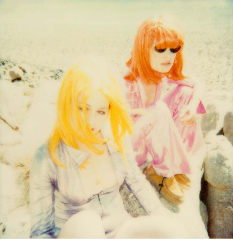 Stefanie Schneider, 'Max and Radha sitting on Rock (Long Way Home)', 1999, Photography, Digital C-Print, based on a Polaroid, Instantdreams