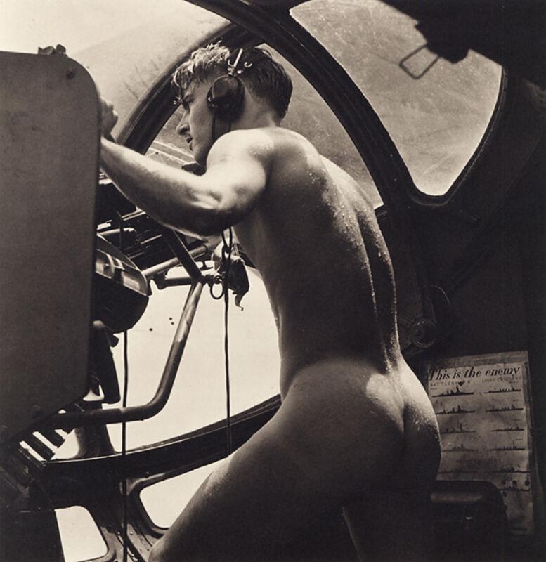 Horace Bristol, 'PBY Blister Gunner, Rescue at Rabaul', 1946, Photography, Platinum print, Scott Nichols Gallery