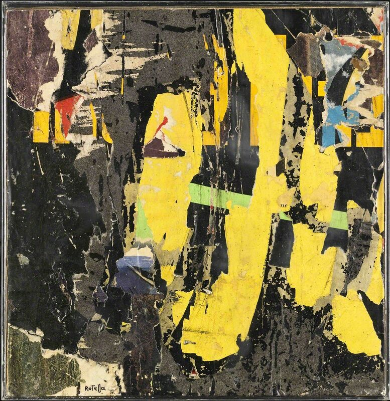 Mimmo Rotella, 'Untitled', 1957, Mixed Media, Décollage on paper, Robilant + Voena