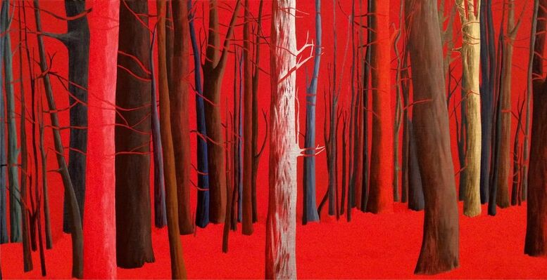 The universe dawned red today, installation view
