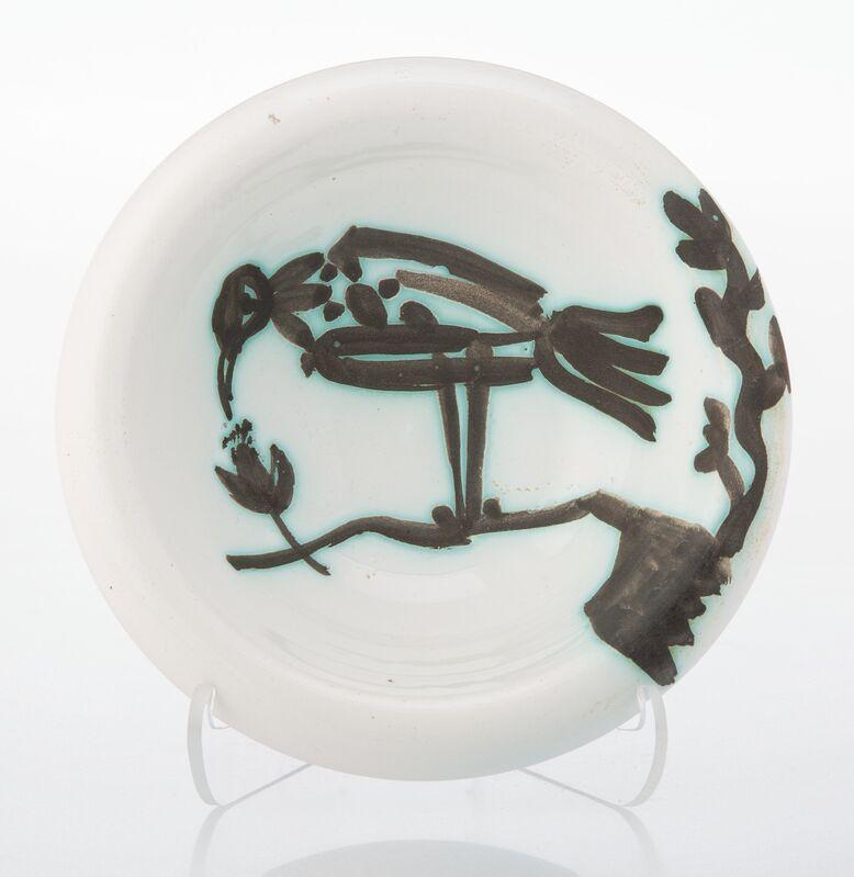 Pablo Picasso, 'Oiseau sur la branche', 1952, Design/Decorative Art, Terre de faïence ashtray, painted and partially glazed, Heritage Auctions
