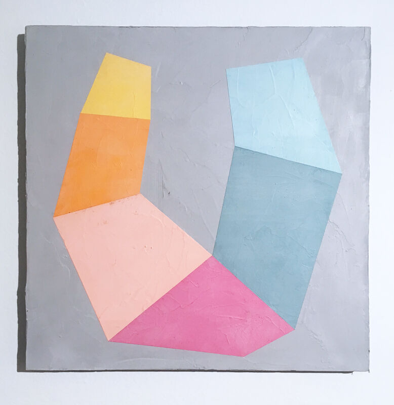 Kati Vilim, 'Something Like Happiness II', 2019, Painting, Plaster and acrylic on wood panel, Deep Space Gallery