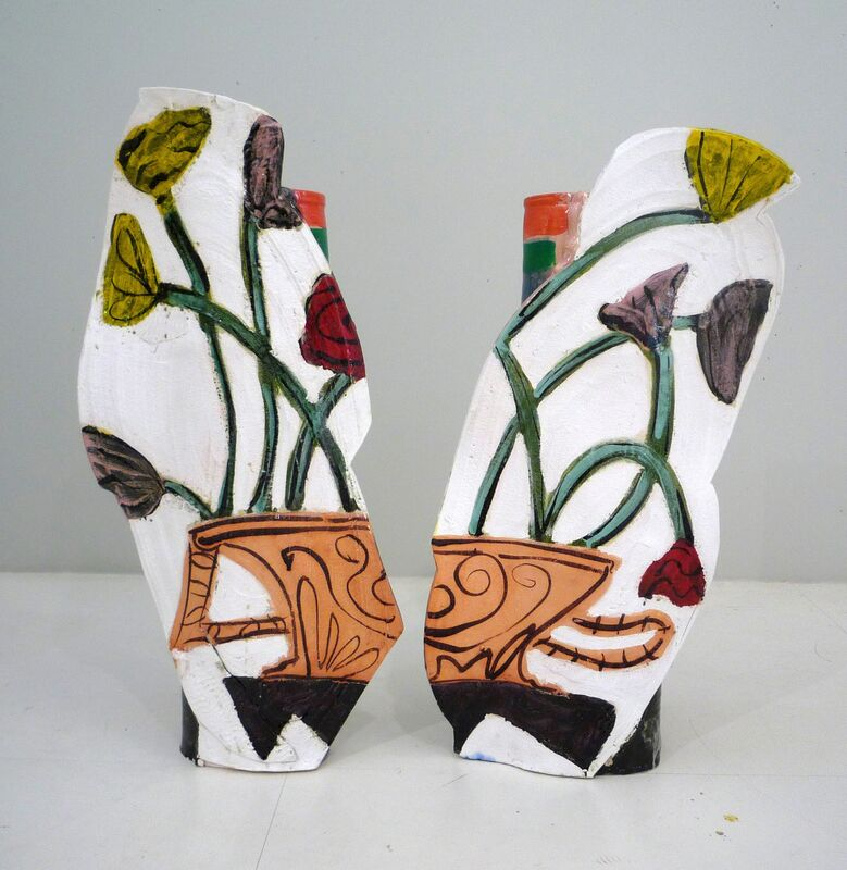 Betty Woodman, 'Spring in Athens', 2011, Sculpture, Glazed earthenware, epoxy resin, lacquer, acrylic paint, Nina Johnson