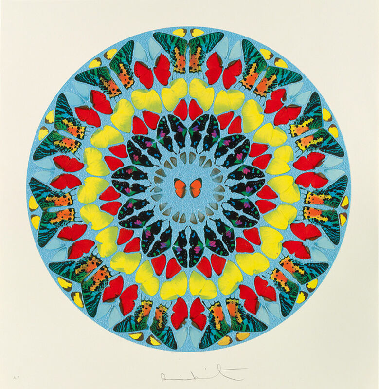 Damien Hirst, 'Psalm: Dixit Insipiens', 2009, Print, Silkscreen with diamond dust. Edition of 50. Framed., The Drang Gallery