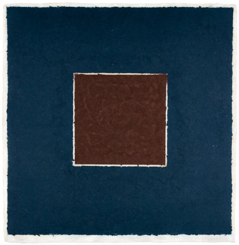 Ellsworth Kelly, 'Colored Paper Image XX (Brown Square with Blue), from Colored Paper Images', 1976, Print, Colored and pressed paper pulp, the full sheet, Upsilon Gallery