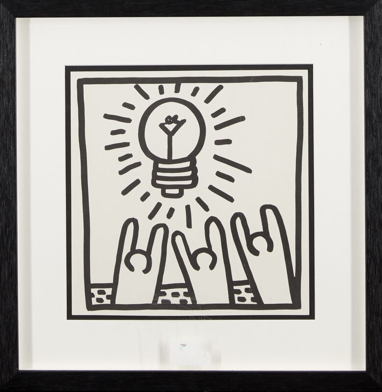 Keith Haring, 'Untitled (Love, Angel, Pyramid, Idea)', 1982, Print, Four lithographs on wove, Roseberys