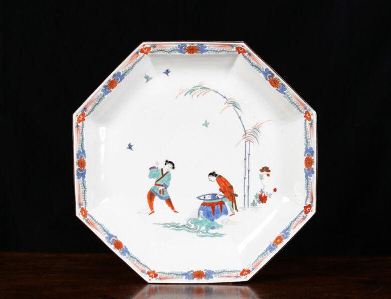 Meissen Porcelain Factory, 'A LARGE MEISSEN OCTAGONAL 'SHIBA ONKO' DISH', Circa 1735