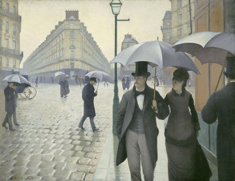 Gustave Caillebotte, 'Paris Street; Rainy Day', 1877