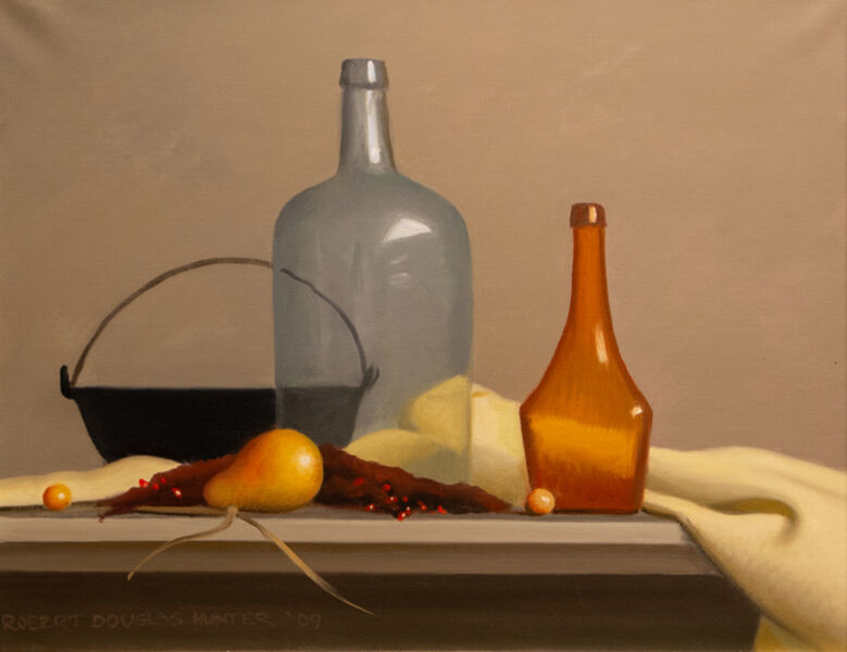 Robert Douglas Hunter, 'Arrangement with Two Bottles and an Iron Kettle', 2009