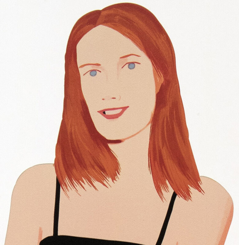 Alex Katz, 'Sharon', 2018, Sculpture, Cutout from shaped powder-coated aluminum, printed the same on each side with UV cured archival inks, clear coated, and mounted to 1/4 inch stainless steel base. Signed., Meyerovich Gallery