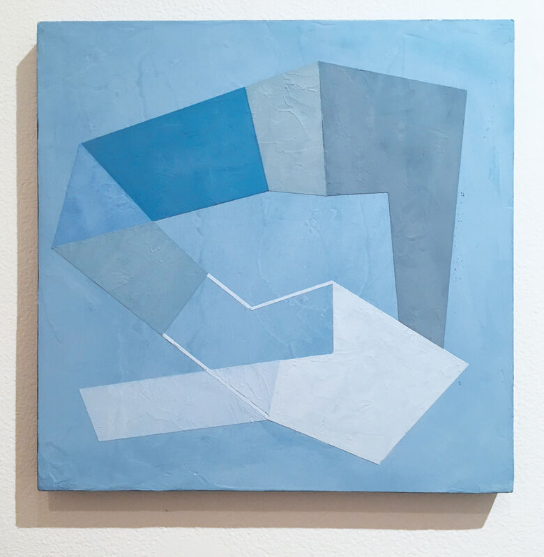 Kati Vilim, 'Blue Trace II', 2020, Painting, Plaster and acrylic on wood panel, Deep Space Gallery