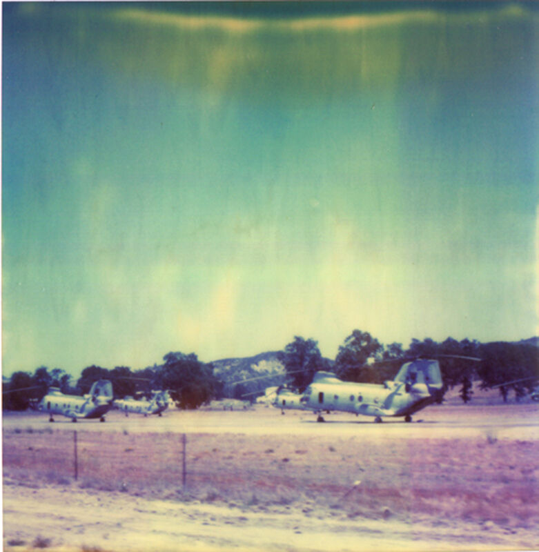 Stefanie Schneider, 'Helicopter (The Last Picture Show), analog', 2005, Photography, Analog C-Print based on a Polaroid, hand-printed and enlarged by the artist on Fuji Crystal Archive Paper. Not mounted., Instantdreams