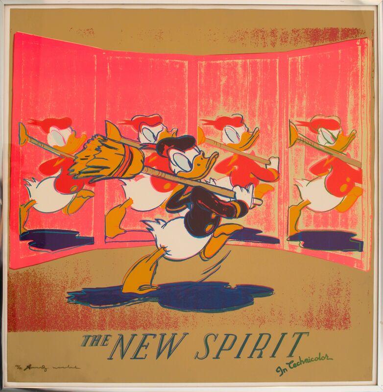 Andy Warhol, 'The New Spirit (Donald Duck)', 1985, Print, Screenprint in colors, David Benrimon Fine Art