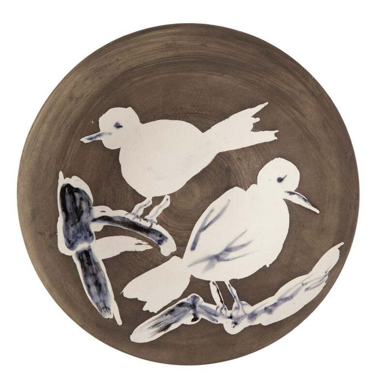 Pablo Picasso, 'Madoura Ceramic Plate-Oiseaux n. 95 Ramié 487', 1950-1959, Sculpture, Ceramic,Earthenware,Glaze, Hirth Fine Art