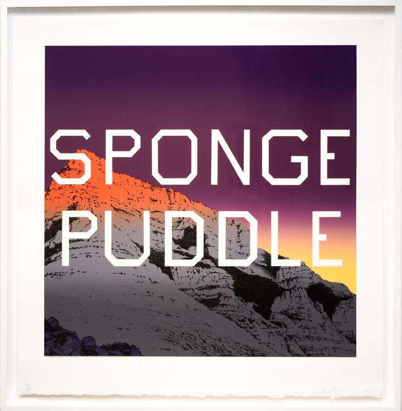 Ed Ruscha, 'Sponge Puddle', 2015, Print, Lithograph in colors, on Rives BFK paper, David Benrimon Fine Art