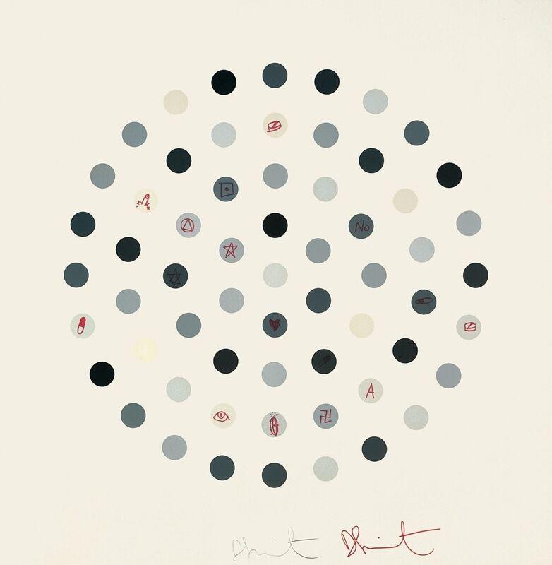 Damien Hirst, 'Cinchonidine (Unique)', 2004, Print, Etching, marker pen, paper, Artificial Gallery