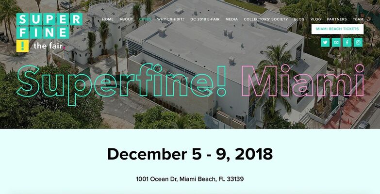 HUE Gallery of Contemporary Art  at Superfine! Miami 2018, installation view